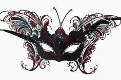 red-deluxe-venetian-butterfly-metal-half-mask-1.jpg (650×433)