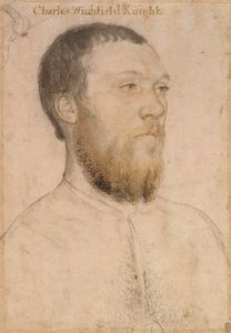 Sir Charles Wingfield - Hans Holbein the Younger Portrait Sketches, Portrait Art, Hans Holbein Le Jeune, Hans Holbein The Younger, Renaissance Portraits, Renaissance Clothing, The Royal Collection, European Paintings, Tudor History