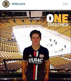 Torey Krug from the BOSTON BRUINS upporting the NE REVs. Boston Bruins 3029e9b15