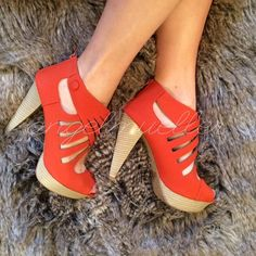 Spotted while shopping on Poshmark:  Orange heels! #poshmark #fashion #shopping #style #Deb #Shoes