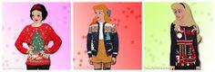 Disney princesses in Christmas sweaters #1