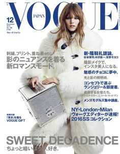 Freja Beha Erichsen en @LouisVuitton para la portada de Vogue Japón, diciembre 2015