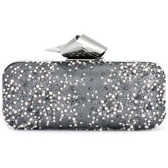Jimmy Choo 'Cloud' tube clutch ($2,895) ❤ liked on Polyvore featuring bags, handbags, clutches, grey, metallic purse, leather handbags, metallic clutches, grey leather handbags and metallic handbags