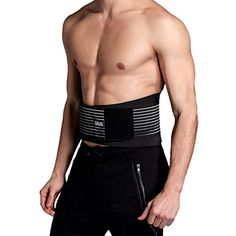 Lumbar Lower Back Brace and Support Belt By Cotill - 8 stable Splints for Back Pain Relief - Dual Adjustable Straps and Breathable Mesh Panels *** Visit the image link more details. (This is an affiliate link) #SportsMedicine