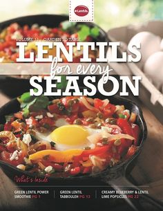 Lentils For Every Season Volume 11 - Garden to Table Healthy Eating Recipes, Whole Food Recipes, Best Lentil Recipes, How To Cook Lentils, Green Lentils, Food Facts, Recipe Collection, Health And Nutrition, Brunch
