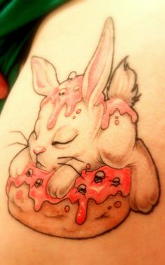Donut Bunny Tattoo by reniazen.deviantart.com on @deviantART