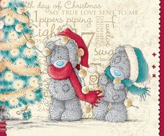 Merry Christmas to a friend/family Tatty Teddy, Teddy Images, Teddy Bear Pictures, Christmas Images, Christmas Art, Teddy Beer, Das Abc, Bear Graphic, Blue Nose Friends