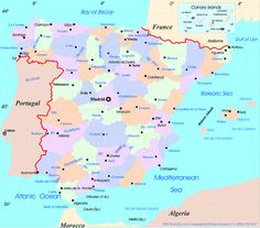 Andulusian Spain Map Of Andalucia Andalusia Spain Pinterest - Map of andalusia