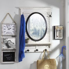 The Shutter Mirror Wall Shelf with Hooks is perfect for your entryway or mudroom. You can hang your bags and jackets and get one last look before you head out the door. Shop now through January 31 and enjoy this piece for just $103.98!