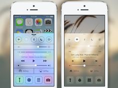 iOS 7 Control Center Reimagined by Clement Ng