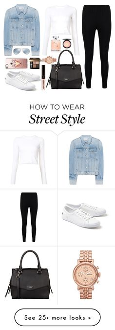 """""""Street Style"""" by gz-d on Polyvore featuring rag & bone, Boohoo, Proenza Schouler, Lacoste, Fiorelli, Ray-Ban, Casetify, Bobbi Brown Cosmetics, MAC Cosmetics and FOSSIL"""