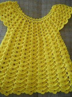 Diy Crafts - Crochet Baby Dress, Preemie Or Small Newborn, Ready To Ship - Webcrochet.Com - Diy Crafts - hadido Crochet Toddler, Baby Girl Crochet, Crochet Baby Clothes, Crochet Girls Dress Pattern, Crochet Vest Pattern, Baby Clothes Patterns, Baby Patterns, Crochet Princess, Baby Knitting