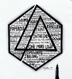 Linkin Park Logo, Mike Shinoda, Chester, Paper Cutting, The Cure, Posters, Logos, Heart, Music