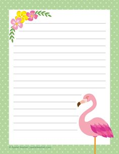 10 Free summer printables - party, home and stationery - Ayelet Keshet free summer printables – writing paper 3 Diy Stationery Paper, Free Printable Stationery, Printable Scrapbook Paper, Printable Paper, Printable Letters, Free Paper, Diy Paper, Paper Crafts, Lined Writing Paper