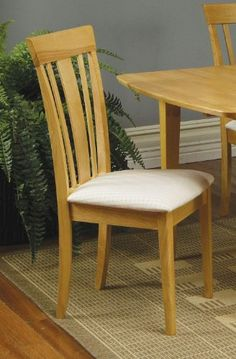 Black Friday 2014 Set of 2 Contemporary Natural Finish Dining Chairs w/Cushion Seat from Coaster Home Furnishings Cyber Monday Home Kitchens, Furniture Today, Dining Room Furniture, Coaster Furniture, Furniture, Dining Room Chairs, Kitchen Furniture, Mattress Furniture, Side Chairs Dining
