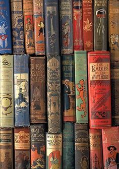 Beautiful Vintage Book Spines