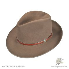 e0662fed036 Stetson Roadster Fur Felt Vintage Fedora Hat (Walnut Brown) Fedora Hat