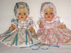 images of betsy wetsy   Ideal Betsy Wetsy dolls in pastel dresses