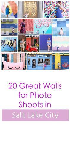 Salt lake city murals, Blogger walls for photo shoots