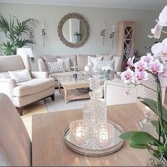 46 Stunning Romantic Living Room Decor Ideas - Popy Home Romantic Living Room, Cozy Living Rooms, Home Living Room, Living Room Designs, Living Room Decor, Family Room Decorating, Home And Deco, Living Room Inspiration, Interior Design
