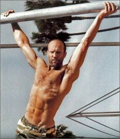 Jason Statham, proving you can be hairy and balding and still look great with a fit body