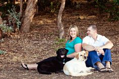 Maternity photos with their dogs!