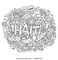 Haiti flag and map coloring pages and facts homeschool for Haiti flag coloring page