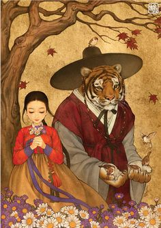 Iconic Western fairytales get an Eastern makeover by Korean artist Na Young Wu - Imgur