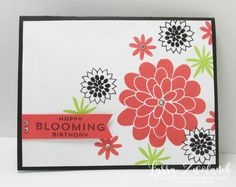 Flower Patch Stampin Up Sizzix Lemon Lime Twist new in color combo Lyssa stamping