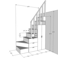 Small Staircase, Tiny House Stairs, Tiny House Loft, Loft Stairs, Tiny House Living, Tiny House Design, Small House Plans, Spiral Staircases, Modern Staircase
