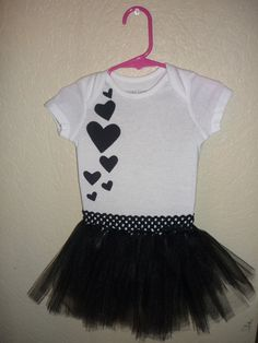 Black hearts tutu for a baby girl!