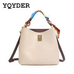 8343e7ee87 2017 New Women Bags Color Scarves Handbags Leather PU Casual Totes Women  Fashion Crossbody Shoulder Bags