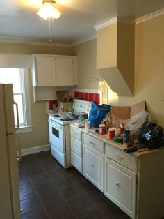 My latest project. Renovating my 100+ year old house. This is the before photo of the kitchen.