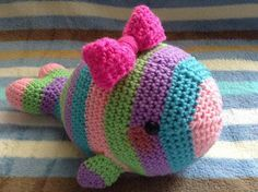 Tale of a Candy Whale | The Duchess' Hands, #crochet, free pattern, amigurumi, stuffed toy, #haken, gratis patroon (Engels), walvis, knuffel, speelgoed, kraamcadeau, baby, #haakpatroon