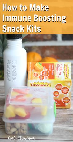 How to make this delicious and easy healthy snacks kit to help boost your family's immune system.