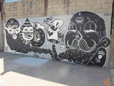 créations à l'univers très cartoon et coloré du street artist / illustrateurYOK