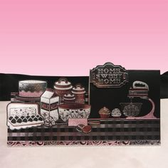 Card made using The Bake Off (Precious Pink) Topper Set from the Midnight Silhouettes Collection by Hunkydory Crafts
