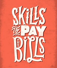"""Typography Mania Entries — """"The Bills"""" - www.jayroeder.com"""