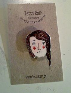 """Brosche """"Mädchen"""" von Tessa Rath auf DaWanda.com"""