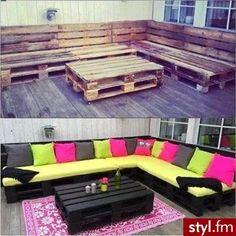 sillon y mesa reciclada, una manera muy practica de aprovechar todo en casa