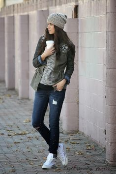 Winter / Casual  Jeans, sneakers, coat