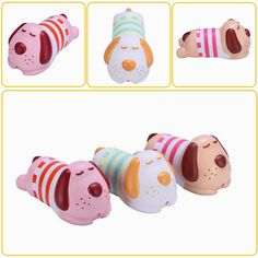 Vlampo Squishy Luck Hans Tony Doggy Puppy Dog Slow Rising Original Packaging Collection Gift Decor