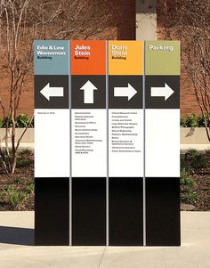 [ b ] clear directional signage.