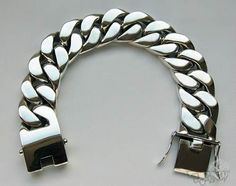 Pulseira prata 925 masculina pesada 213 gramas