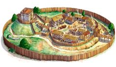 This is an example of the orginal castles in england