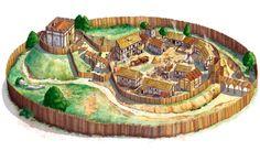 medieval village plan - Google Search