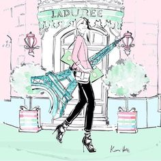 """4,318 Likes, 22 Comments - Kerrie Hess Illustrator (@kerriehessillustration) on Instagram: """"From Paris with love... Working with @maisonladuree """""""