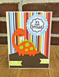 Happy Birthday Card for Boy, Handmade Dinosaur Birthday Card for Kids 5th Birthday Boys, Baby Birthday Card, Birthday Cards For Boys, Dinosaur Birthday, Happy Birthday Cards, Birthday Wishes, Boy Cards, Kids Cards, Cute Cards