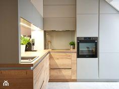 przytulne mieszkanie M3 - Mała kuchnia w kształcie litery l w aneksie z oknem, styl nowoczesny - zdjęcie od Martyna Midel projekty wnętrz