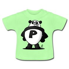 Panda Power baby T-Shirt. #Spreadshirt #Cardvibes #Tekenaartje